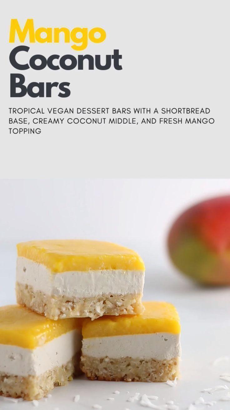 Coconut Mango Bars