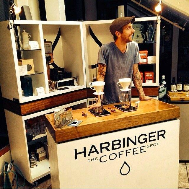 Harbinger Coffee   unique coffee cart.