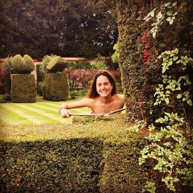 Nude girl with gardener, Slow anal fuck