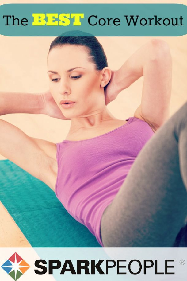 The Best Workout You Can Do for Your Core. Love working my core! Still mastering the plank! | via @SparkPeople #abs #strong #exercise