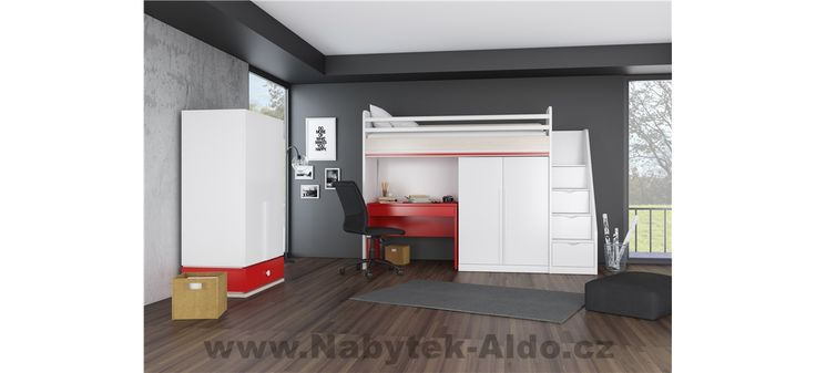 Dětský pokoj s patrovou postelí do malého prostoru