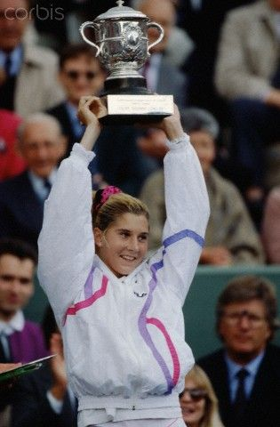 Monica Seles ~ French Open champion, 1990