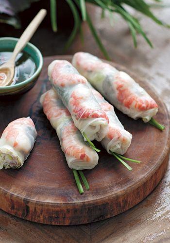 Rouleaux de printemps vietnamiens aux crevettes et porc Easy Vietnamese Recipes - Soft Rice Paper Rolls with Prawns and Pork