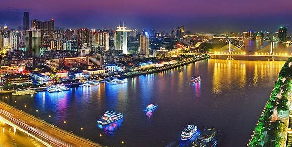 Guangzhou's largest river and China's third longest.the Pearl River flows enchantingly through the city, bringing charming views and romance to the center of this busy commercial metropolis. Spanning eight provinces, the Pearl River forms a dynamic part of China's larger water system, making it an essential link in the country's practical and cultural lifeblood.