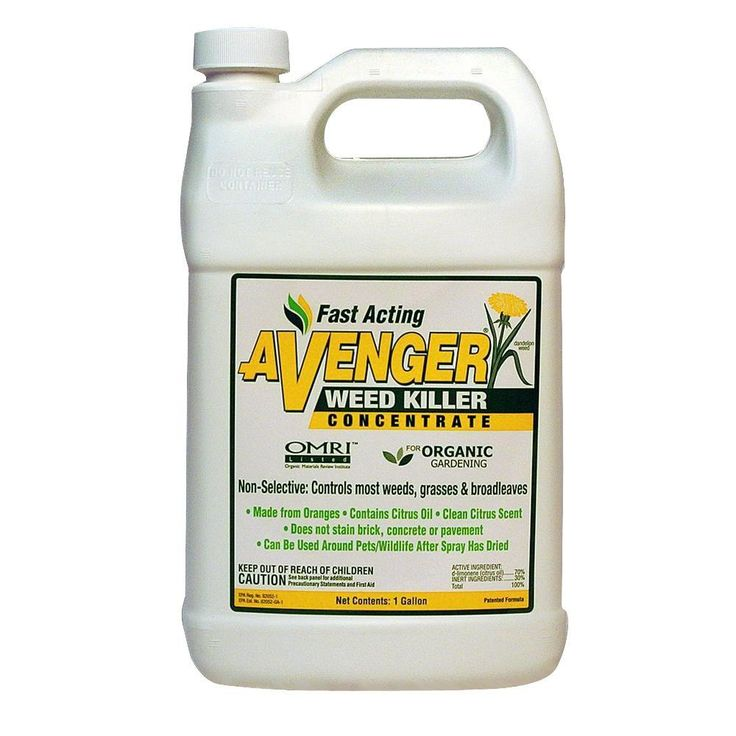 Keep the weeds away and your yard beautiful with this Avenger weed killer. See results within two hours of spraying. Made from oranges, lemons and other citrus fruits, it's highly-biodegradable and non-toxic, making it safe for children and pets playing in the yard. Plus, it won't stain brick, concrete or pavement. One of The Home Depot's most pinned products.