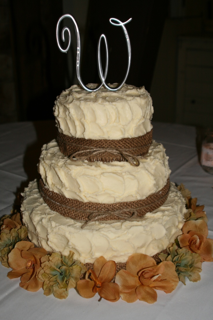 Country Style 3 Tier Wedding Cake Wedding Cakes