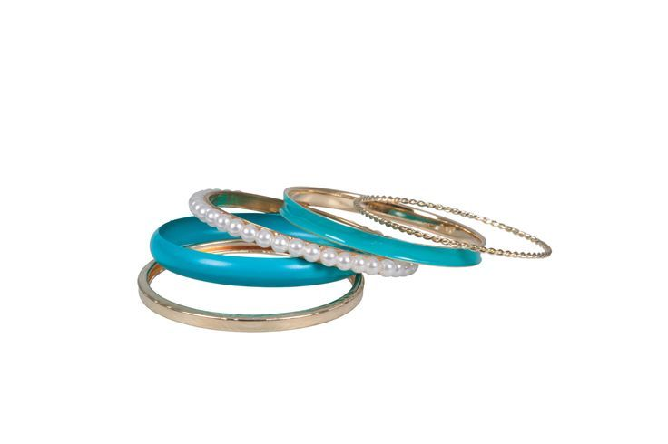 Blue and Pearl Bangle set