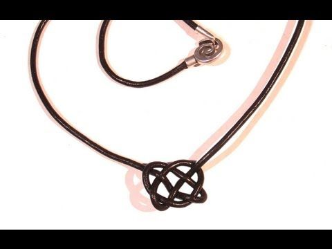 Beading Ideas - Celtic knot neclace using leather cord