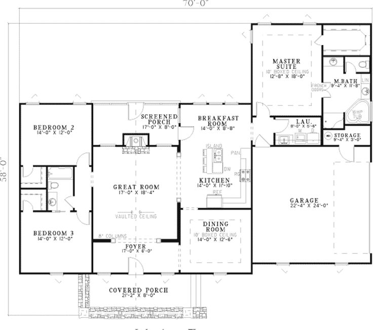 17 best images about floor plans on pinterest craftsman for One story craftsman home plans