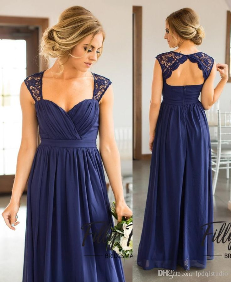 Navy Chiffon Bridesmaid Dresses Long Wedding Party Dresses Chiffon with Lace Garden Bridesmaid Gowns Cheap Country Bridesmaid Gowns Bridesmaid Dresses Country Bridesmaid Dress Cheap Bridesmaid Dress Online with $99.0/Piece on Lpdqlstudio's Store | DHgate.com