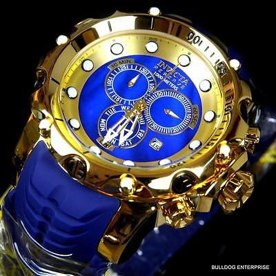 Invicta Reserve Venom Sea Dragon Gen II Gold Plated Swiss Blue MOP Watch New