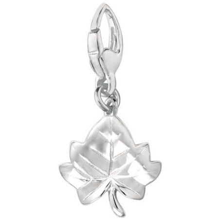 Women's Sterling Silver Maple Leaf Clip-On Charm