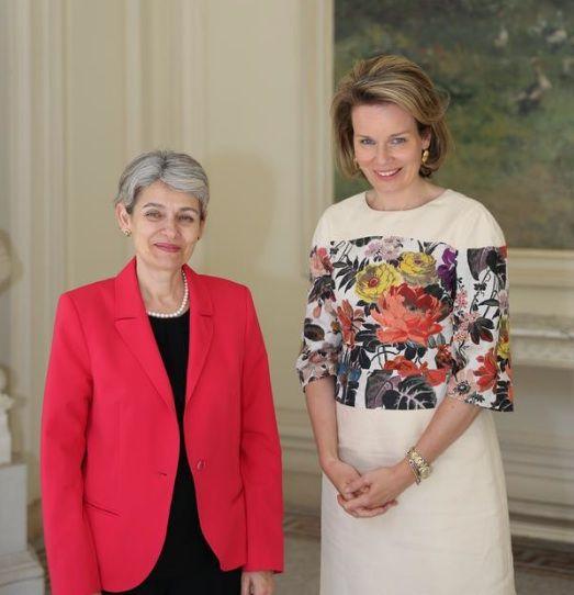 royalcorrespondent:  Queen Mathilde held an audience with Director-General Irina Bokova of UNESCO, Brussels, June 5, 2015