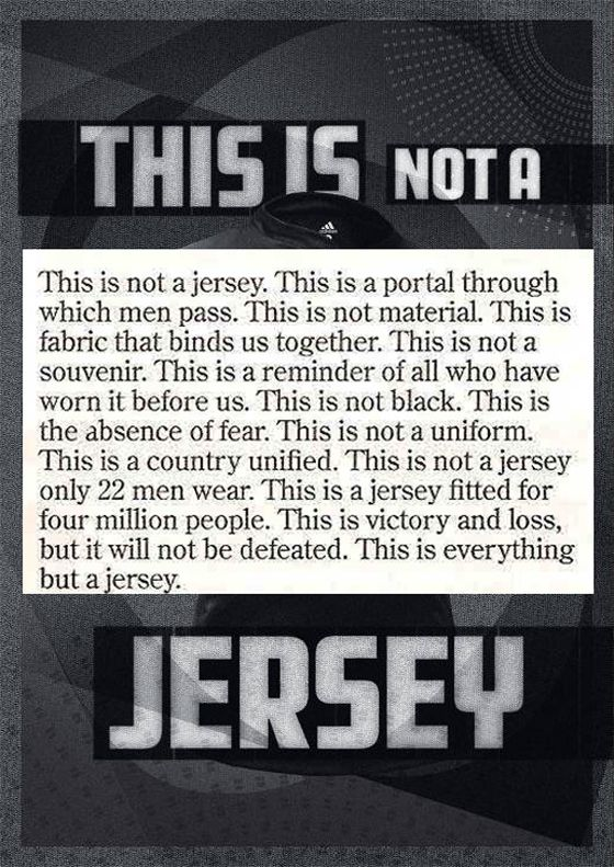 This advert for a replica All Blacks rugby shirt