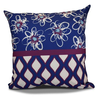 The Holiday Aisle Hanukkah 2016 Decorative Holiday Geometric Euro Pillow Color: Purple