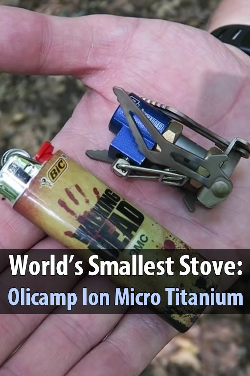 In this video, Living Survival talks about the Ion Micro Titanium Stove which weighs only 1.5 ounces, making it the world's smallest stove.