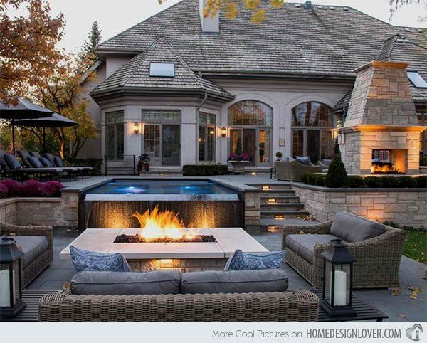 41 Pool Landscape Design Ideas To Match Your Summer Days Fire Pit Backyard Backyard Fire Backyard Seating