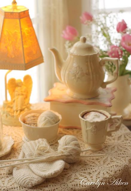 Cute tea pot, and cup and saucer