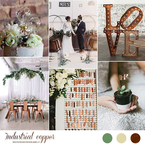 copper industrial wedding inspiration