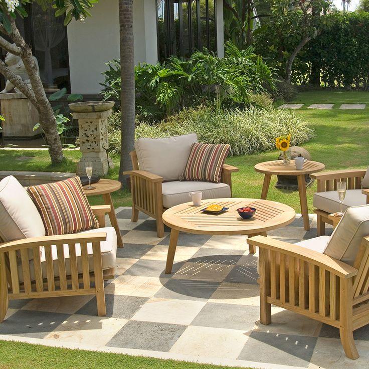 Teak Outdoor Lounge Seating Set (5 piece set) | Craftsman Collection