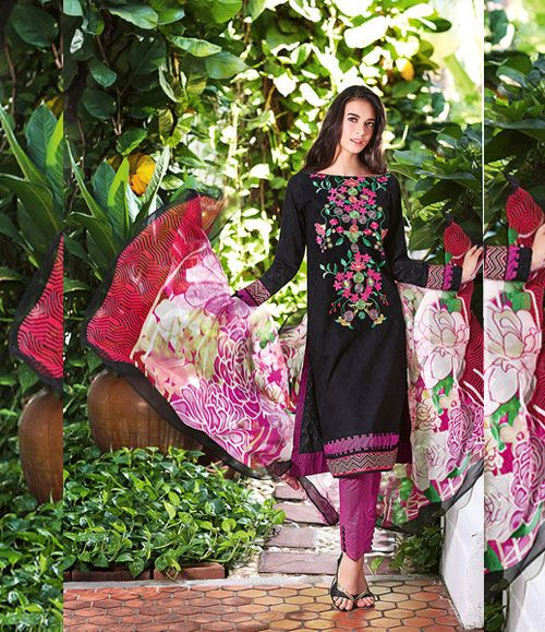 Gul Ahmed Embroidered Chiffon Collection C_306