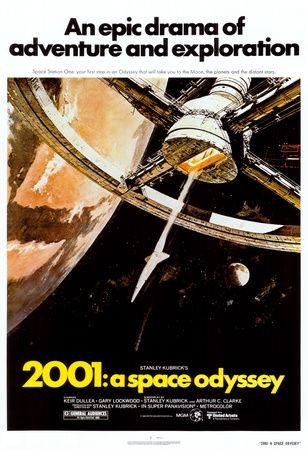 Rumrejsen år 2001, på engelsk Plakat