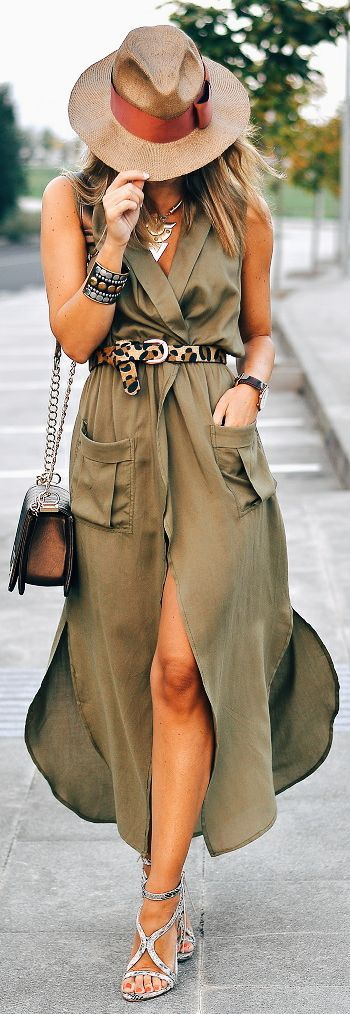 Ma Petite By Ana Olive Maxi Shirtdress Outfit Idea