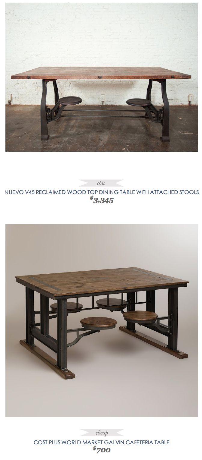 Copycatchicfind Nuevo V45 Reclaimed Wood Top Dining