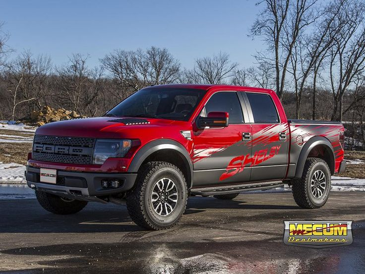Red and black Ford Shelby Raptor truck