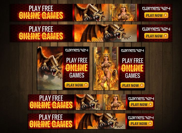 Advertising banners for an online games portal by AnotherLevel