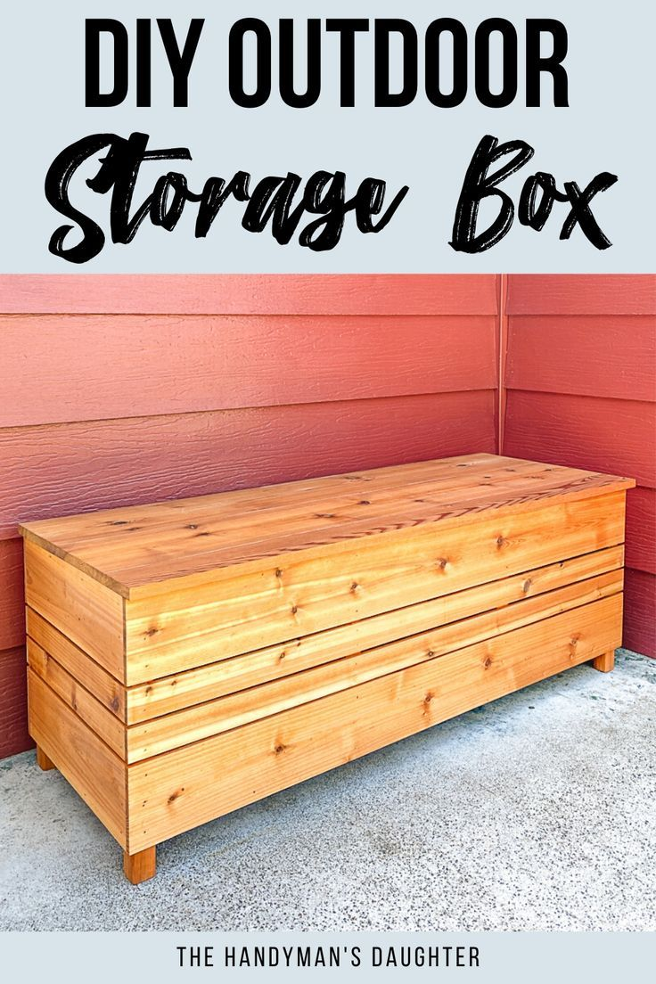 Diy Outdoor Storage Box With Free Plans In 2020 Diy Furniture