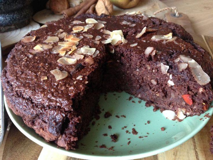Heerlijk, simpel, relatief goedkoop en knetter gezond: Chocoladetaart Monique van der Vloed