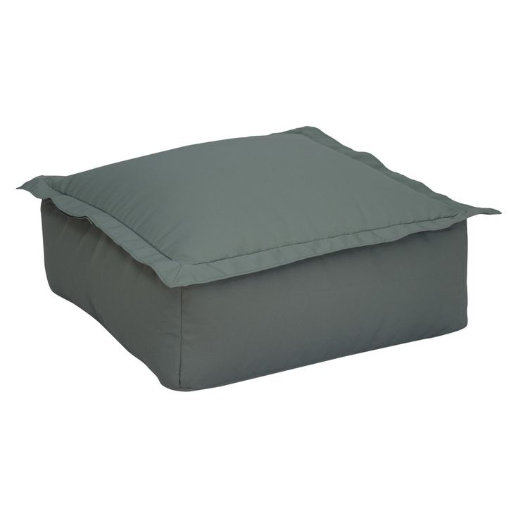 Ace Bayou Outdoor Bean Bag Ottoman - Gray