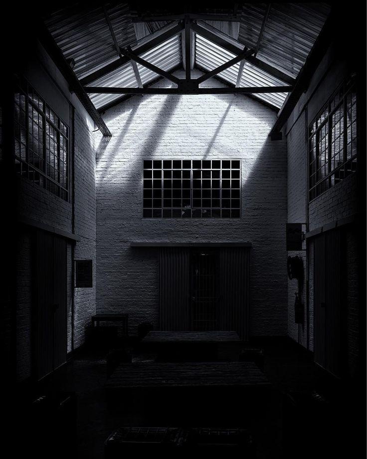 #blackandwhite #photography #moody #buildings #interior #beautiful #lighting #artsonmain #johannesburg #southafrica