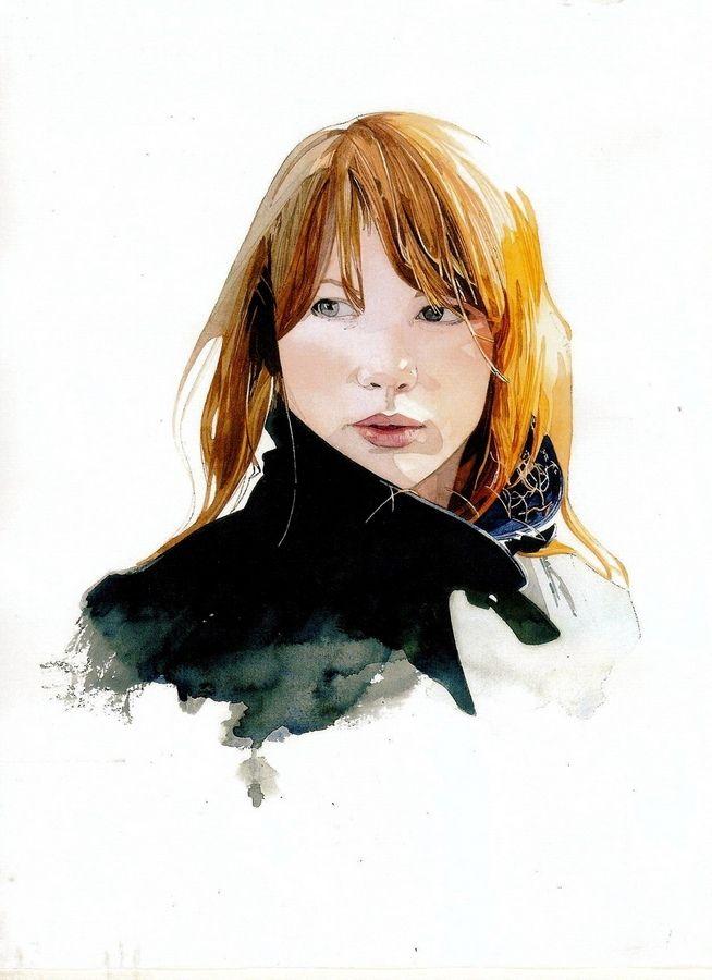 Keinyo White. Новая Зеландия. Акварельный портрет.. Обсуждение на LiveInternet - Российский Сервис Онлайн-Дневников