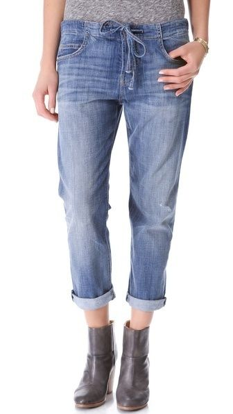 The Drawstring Boyfriend Jeans by Current/Elliott