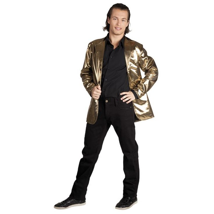 Une veste lamée or! L'ultra chic pour une soirée disco....