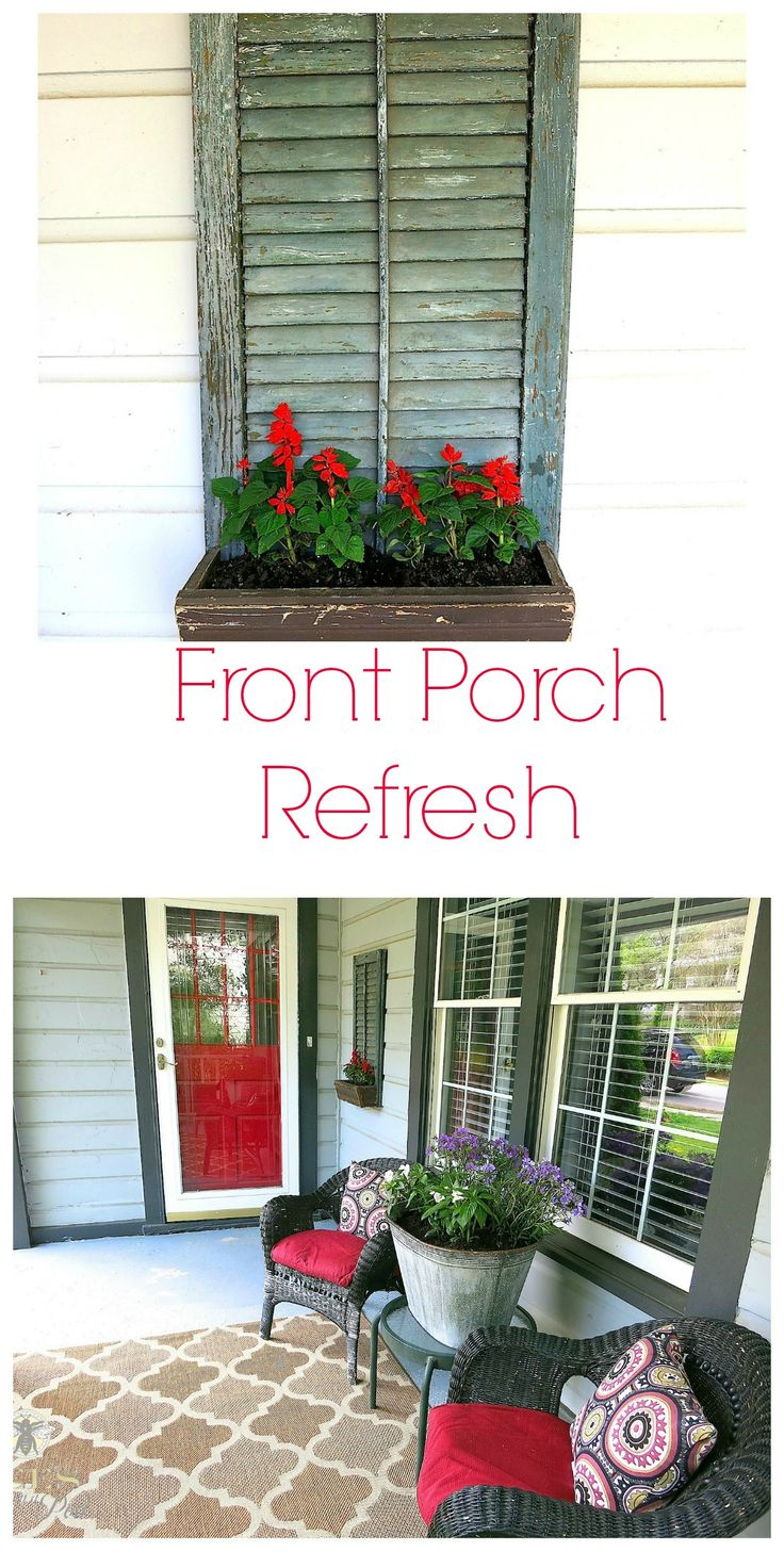 Front Porch Refresh Outdoor Rugs Vintage And Inspiration