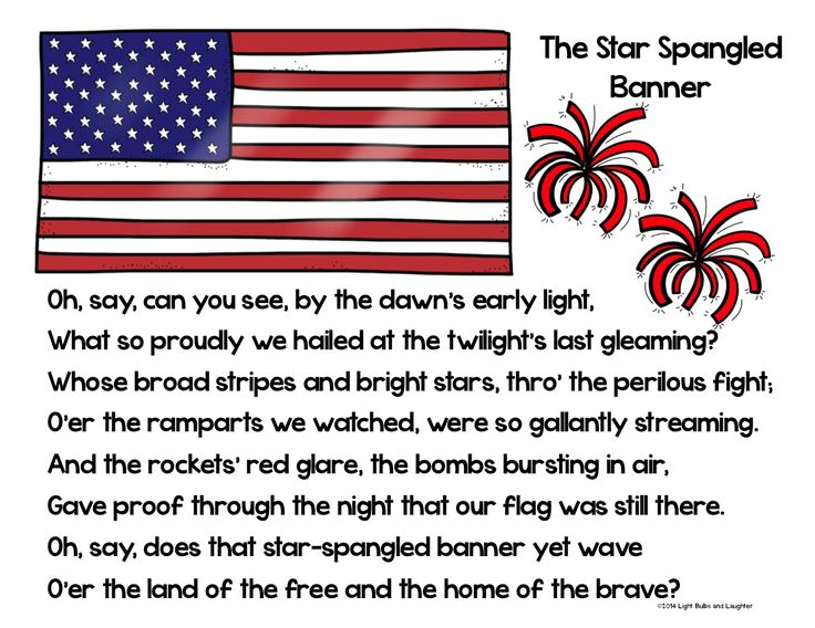 Star Spangled Banner Poster from Light Bulbs and Laughter