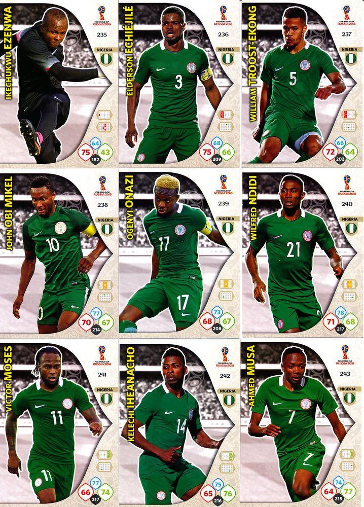 best authentic 06f82 f7317 Panini Adrenalyn XL FIFA World Cup Russia 2018, Nigeria ...