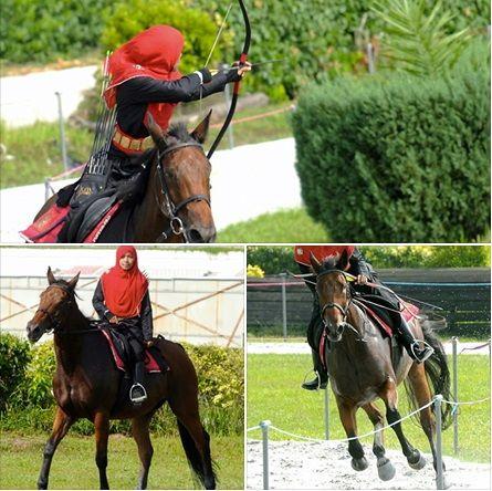 Erina Emelina Ismail, 24-year-old malaysian horseback archer