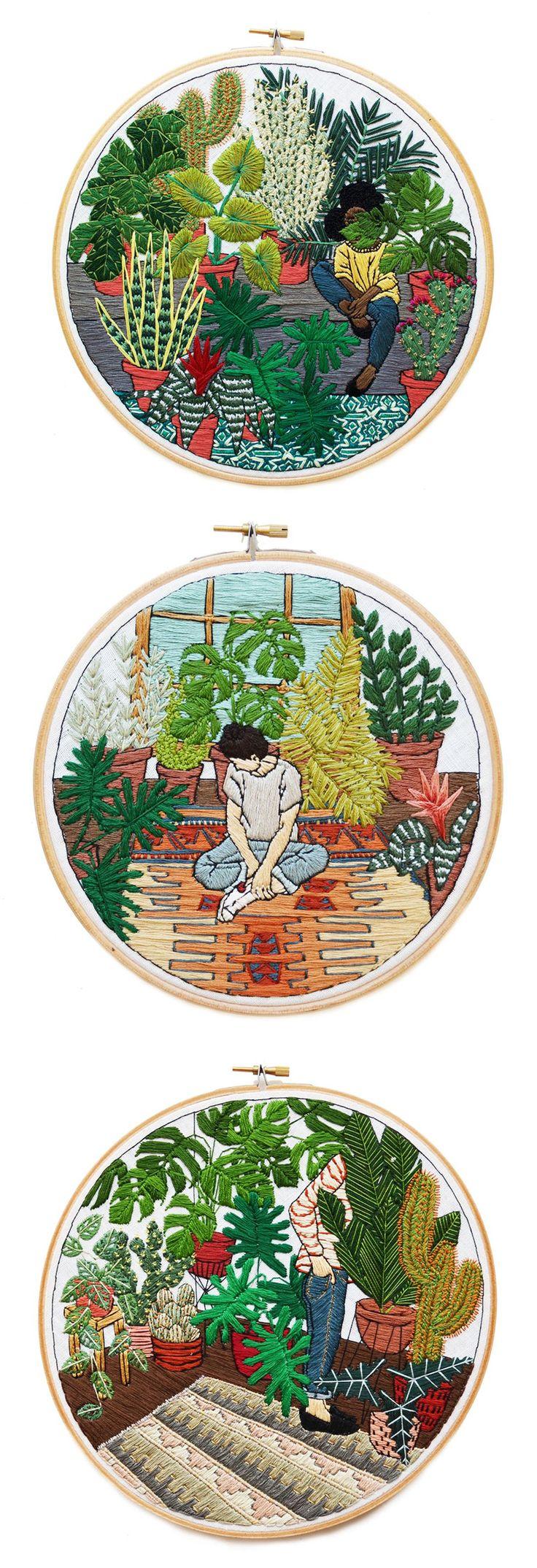 Contemporary embroidery | hoop art | Sarah K. Benning