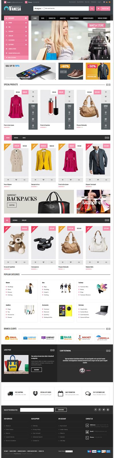 Best Mega Store Responsive #Magento Theme #eCommerce #website #design