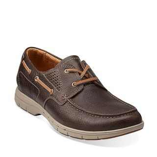 Clarks Originals - Unnautical Sea Dark Brown Leather $150. A lightweight  yet rugged construction made