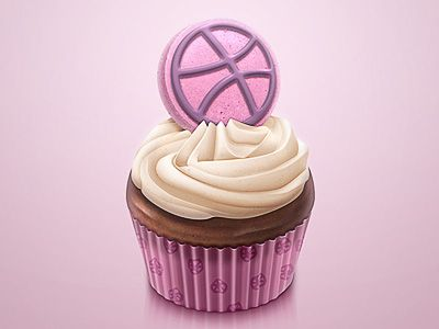 Dribbble_cupcake-icon
