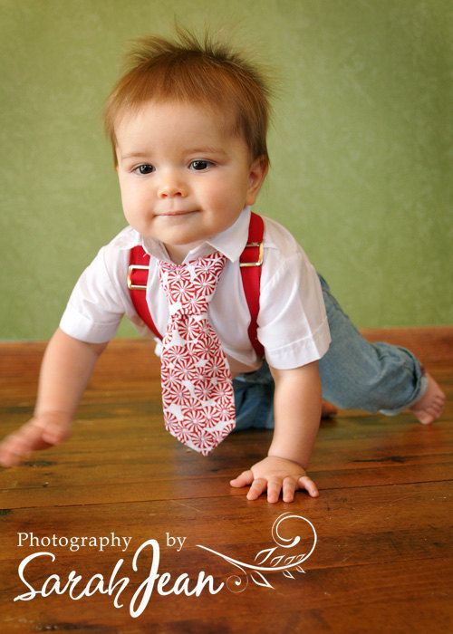 Christmas Boys Necktie and Suspender sets Custom by kbpdesigns, $29.00