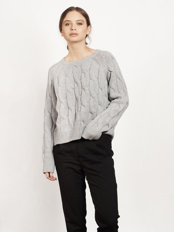 200.00 $CAN THEA-Lightgrey - Sweaters - Apparel