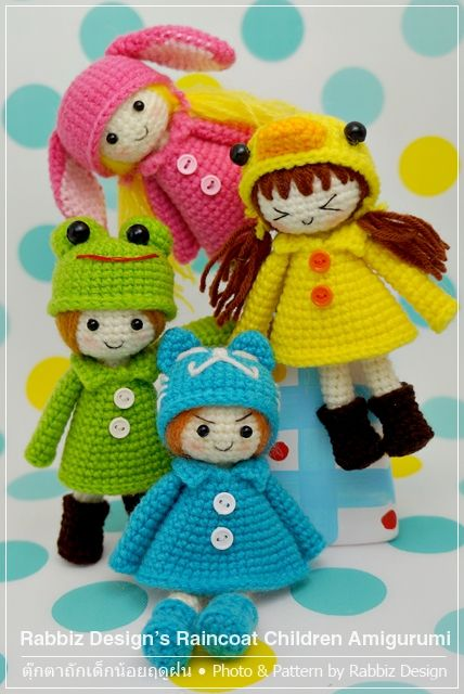 Amigurumi Raincoat Children by Rabbiz Design Amigurumi