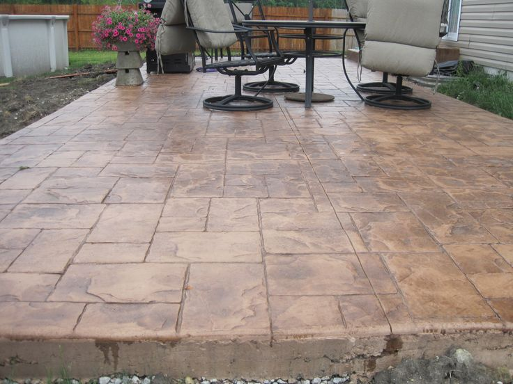 Stamped Concrete Patio Designs Licensed Insured And