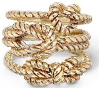 Nautical rope rings.